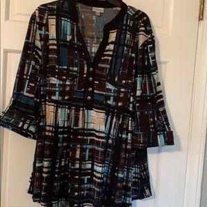 Avenue 3/4 Sleeve Blouse Size 22/24